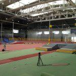 Stabhochsprung Anlage TSV Bayer Leverkusen mit Qualisys Setup