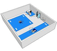 3D Skizze einer Biomechaniklaborplanung