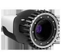 Miqus Kamera von Qualisys in der Front/Seitansicht