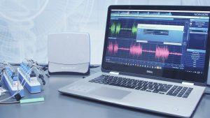 Noraxon EMG System und Laptop mit MR3 Software
