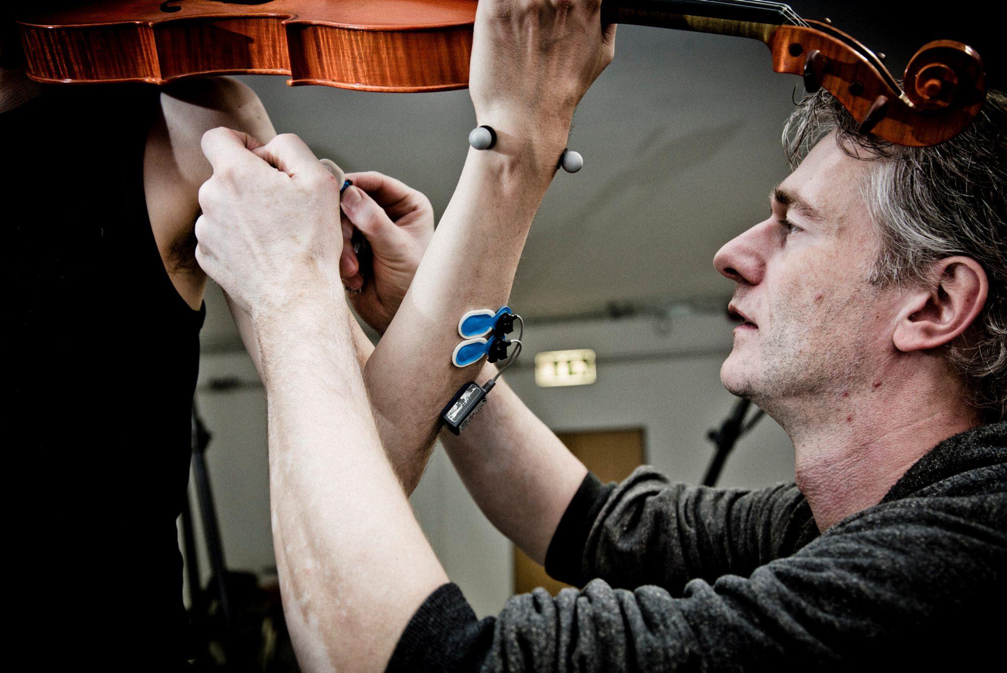 Das Foto aus dem Bewegungslabor stellt eine Impression der Binnenforschung