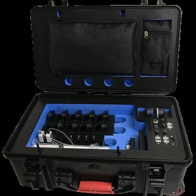 Portable Lab geöffneter Koffer mit Sensoren und Systemen