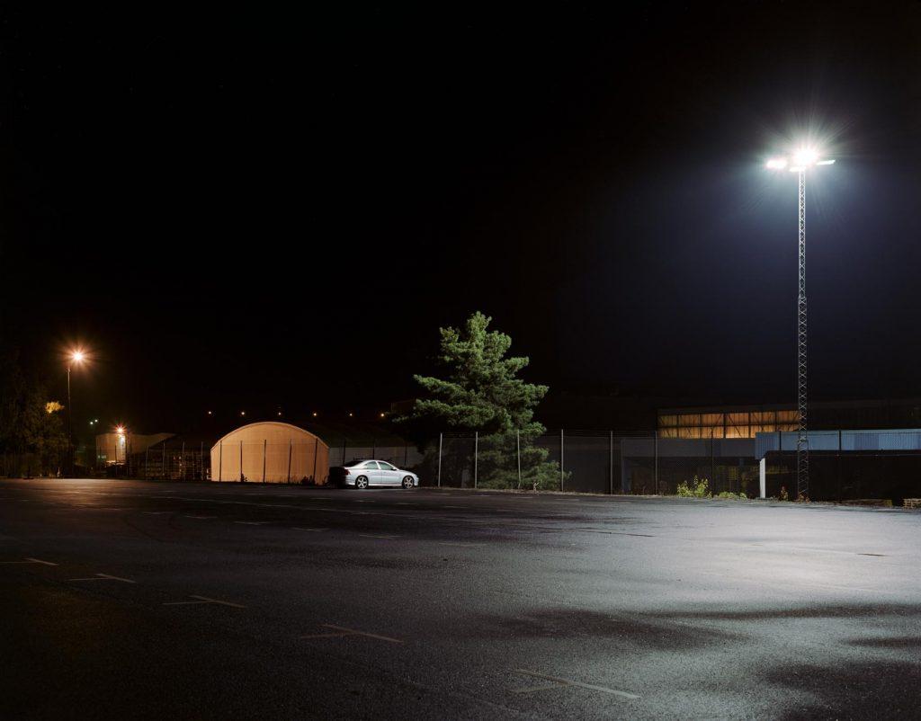 Schweden - Parkplatz bei Nacht